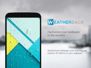 Weatherback Wallpaper and lock screen