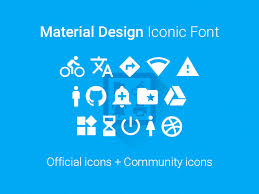 iconic fonts and icons