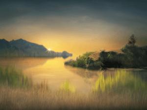 small island in a dream artwork