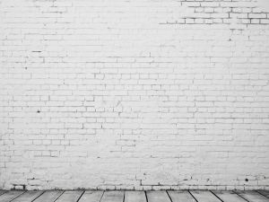 High resolution white brick room