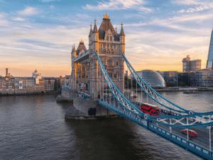 Tower Bridge in London, the UK