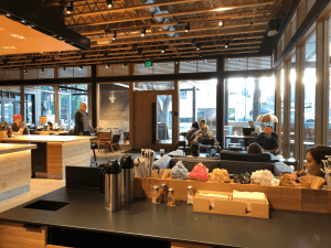 Los Angeles, CA March 29, 2018 Interior of a Starbucks Reserve store