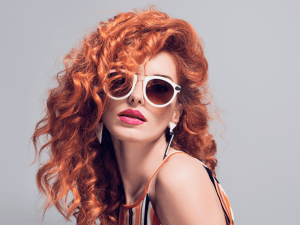 Fashion Portrait Sensual Redhead Girl