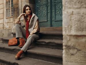 Fashion Model In Street